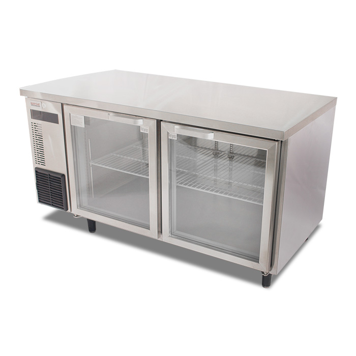 150 cm blue ray and glass door undercounter refrigerator